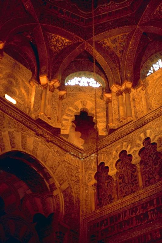 Inner ancient Cordoba Mosque, Muslim Spain